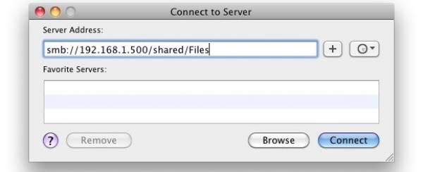 Map Network Drive Under Mac OSX